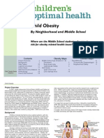 Child Obesity by Neighborhood and Middle School