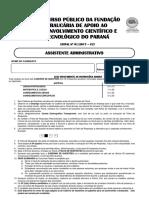 Fafipa 2017 Fundacao Araucaria Pr Assistente Administrativo Prova
