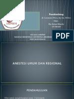 Ppt Anestesi Umum Dan Regional Rio