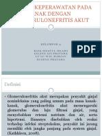 Asuhan Keperawatan Pada Anak Dengan Glomerulonefritis Akut
