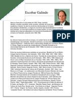 Biografia David Escobar Galindo