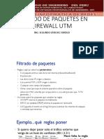 Filtrado de Paquetes en Firewall Utm