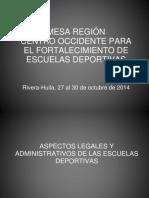 Aspectos Legales y Administrativos de Las Escuelas Deportivas