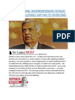 SRI LANKA  'RANIL WICKREMESINGHE FATIGUE' AND THE CHALLENGES UNP HAS TO OVERCOME.docx