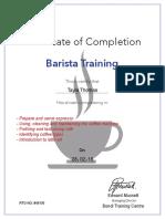Barista Certificate