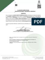 Certificado aistehsis