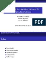 Acoplamiento magnético para uso de vehículos eléctricos