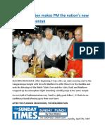 Joint Opposition makes PM the nation's new Avurudu Kumaraya.docx