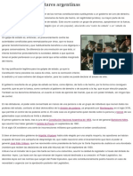 Las Dictaduras Militares Argentinas