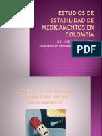 Estudios de Estabilidad de Medicamentos en Colombia