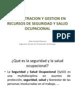 Administración y Gestión en Recursos de Seguridad y Salud Ocupacional