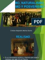 Realismo, Naturalismo, Verismo y Posverismo