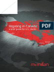 Litigating in Canada - Brief Guide for US Clients-2011
