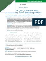 2015 Cociente PaO2-FiO2 o Índice de Kirby