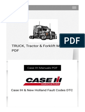 Case IH & New Holland Fault Codes DTC - Truck_ Tractor & Forklift