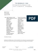 Letter to Duke University Board of Trustees