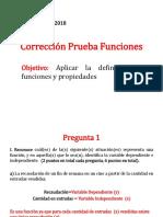 Corrección Prueba Funciones y función inversa