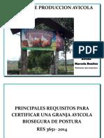 requisitos para Certificacion  produccion de Aves
