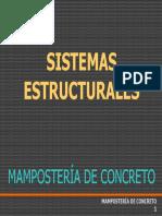 1. Sistemas Estructurales en Muros