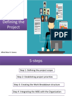 Defining the Project (Step1 and 2)