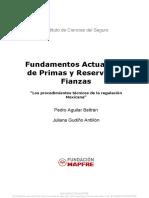 Fundamentos Actuariales Primas Reservas Fianzas Pedro Aguilar