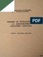 Rsumen de Producción de La Agroindustria Azucarera Mexicana CNIAA