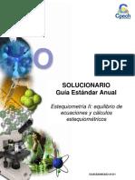 2015 Solucionario Clase 10 Estequiometría II Equilibrio de Ecuaciones y Cálculos Estequiométricos