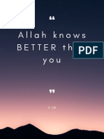 Allaah Knows Better
