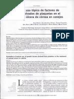 Evaluación Del Uso Tópico de Factores de Cricimentos