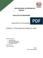 P5 Conversión de Trabajo en Calor