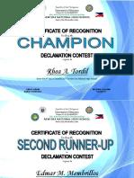 Certificate Poster Making