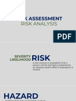 Risk Assessment Risk Analysis