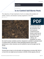 Heat Treatments to Control Soil-Borne Pests