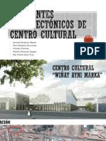 Referentes Arquitectónicos de centros culturales