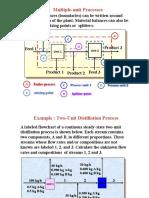 Material balance on a 2 Unit Distillations