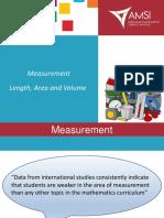 Measurement Length Area Volume