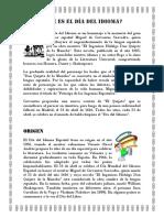 Dia Del Idioma Castellano