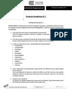Enunciado Producto académico N°1 Comportamiento organizacional