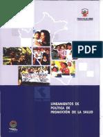 LINEAMIENTOS DE POLITICAS DE PROMOCION DE LA SALUD RM 111-2005 MINSA.pdf