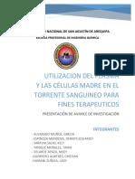 Utilizacion Del Plasma y Las Celulas Madre en El Torrente Sanguineo Para Fines Terapeuticos