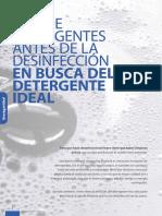 USO DE DETERGENTES ANTES DE LA DESINFECCIÓN EN BUSCA DEL DETERGENTE IDEAL