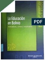 Educación Bolivia Indicadores, cifras.pdf