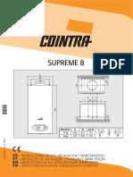 Manual Instrucciones Calentadores a Gas Supreme b Cointra