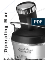 Power Juicer Manual