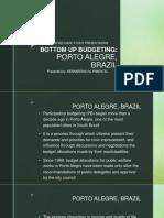 Case Presentation of Bottom Up Budgeting (Brazil)