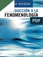 Patocka (2005). Introduccion a La Fenomenologia