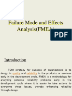 Failure Mode and Effects Analysis(FMEA)