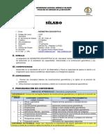 SILABO Geometria Descriptiva 2018