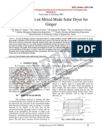 Development on Mixed Mode Solar Dryer for Ginger