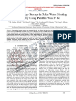 Thermal Energy Storage in Solar Water Heating System by Using Paraffin Wax P- 60